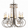Thumbnail image for Shabby Elegance Bronze Finish 8-light Chandelier