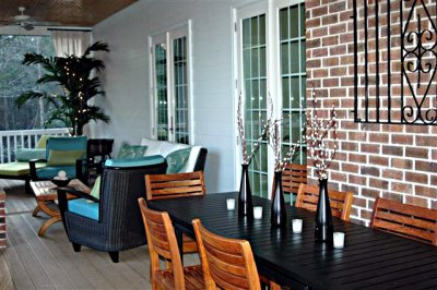 Contemporary Wicker Outdoor Furniture on Outdoor Room With Modern Wicker And Teak Furniture