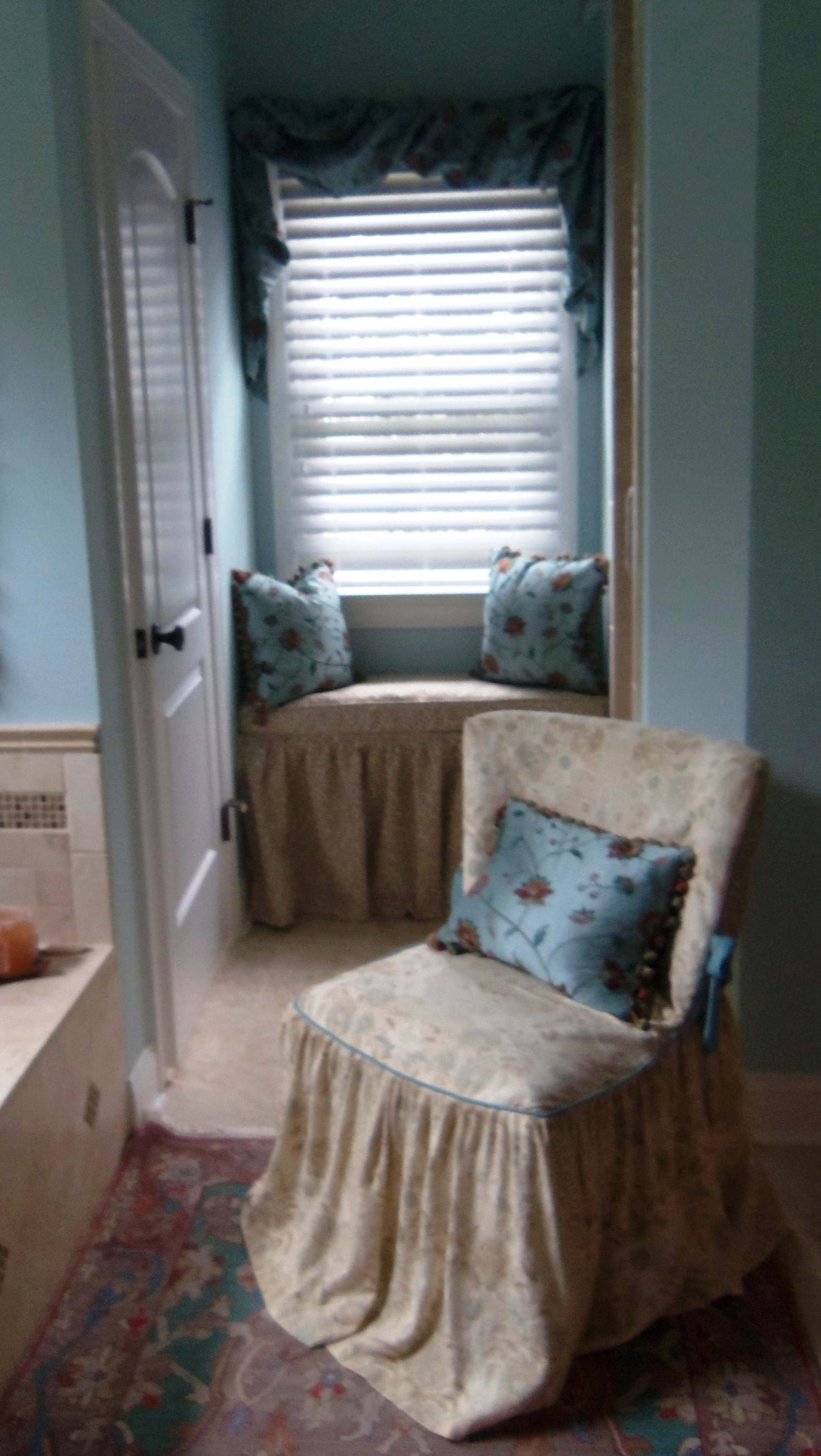 Shabby Chic Master Bath with Vintage Chair on tuscan master bathrooms, beach inspired master bathrooms, rustic modern master bathrooms, country cottage master bathrooms, coastal cottage master bathrooms, transitional style master bathrooms, country style master bathrooms, victorian master bathrooms, modern luxury master bathrooms, farmhouse style master bathrooms, old world master bathrooms, houzz master bathrooms,