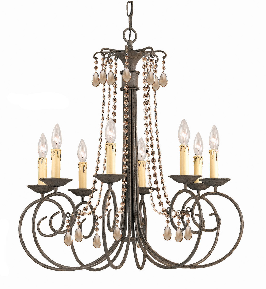 Post image for Shabby Elegance Bronze Finish 8-light Chandelier