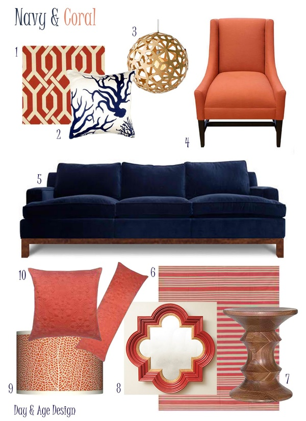 Outstanding Navy And Coral Cjindustries Chair Design For Home Cjindustriesco