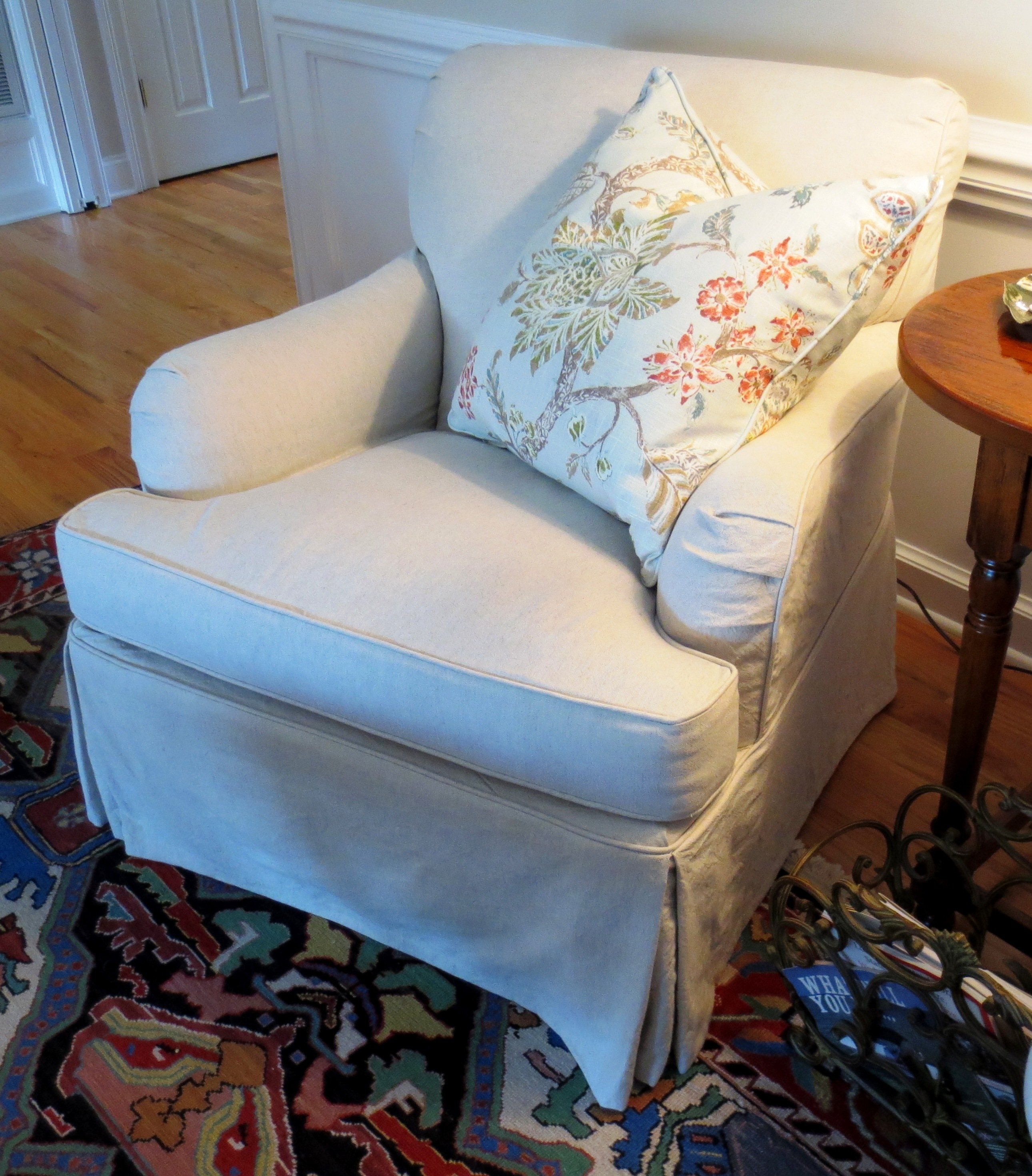 Slipcovered Club Chair